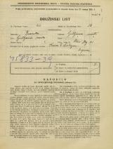 Popis prebivalstva 31. 3. 1931<br />Ljubljana<br />Stari trg 28<br />Population census 31 March 1931