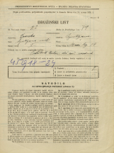 Popis prebivalstva 31. 3. 1931<br />Ljubljana<br />Stari trg 34<br />Population census 31 March 1931