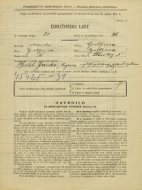 Popis prebivalstva 31. 3. 1931<br />Ljubljana<br />Stari trg 5<br />Population census 31 March 1931