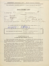 Popis prebivalstva 31. 3. 1931<br />Ljubljana<br />Stranska pot 13<br />Population census 31 March 1931
