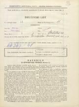 Popis prebivalstva 31. 3. 1931<br />Ljubljana<br />Streliška ulica 20<br />Population census 31 March 1931
