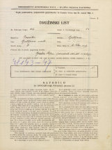 Popis prebivalstva 31. 3. 1931<br />Ljubljana<br />Svetega Petra cesta 77<br />Population census 31 March 1931