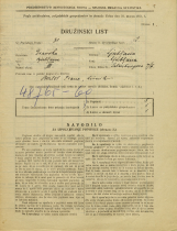 Popis prebivalstva 31. 3. 1931<br />Ljubljana<br />Šelenburgova ulica 7<br />Population census 31 March 1931