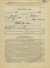 Popis prebivalstva 31. 3. 1931<br />Ljubljana<br />Škofja ulica 12<br />Population census 31 March 1931