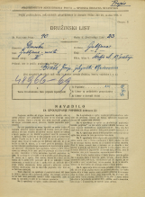 Popis prebivalstva 31. 3. 1931<br />Ljubljana<br />Škofja ulica 13<br />Population census 31 March 1931