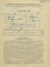 Popis prebivalstva 31. 3. 1931<br />Ljubljana<br />Škofja ulica 9<br />Population census 31 March 1931