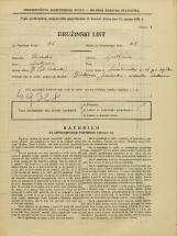 Popis prebivalstva 31. 3. 1931<br />Ljubljana<br />Šmartinska cesta 16<br />Population census 31 March 1931