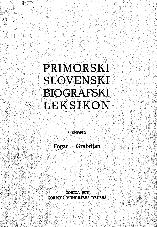 Primorski slovenski biografski leksikon<br />5. snopič<br />Fogar - Grabrijan