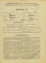 Popis prebivalstva 31. 3. 1931<br />Ljubljana<br />Švabičeva ulica 12<br />Population census 31 March 1931