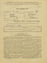 Popis prebivalstva 31. 3. 1931<br />Ljubljana<br />Švabičeva ulica 3<br />Population census 31 March 1931