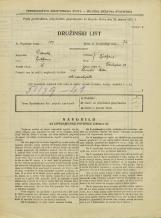 Popis prebivalstva 31. 3. 1931<br />Ljubljana<br />Tavčarjeva ulica 12<br />Population census 31 March 1931
