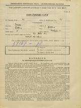 Popis prebivalstva 31. 3. 1931<br />Ljubljana<br />Tavčarjeva ulica 13<br />Population census 31 March 1931
