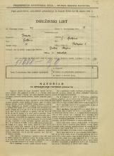 Popis prebivalstva 31. 3. 1931<br />Ljubljana<br />Tavčarjeva ulica 6<br />Population census 31 March 1931