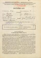 Popis prebivalstva 31. 3. 1931<br />Ljubljana<br />Trnovska ulica 1<br />Population census 31 March 1931