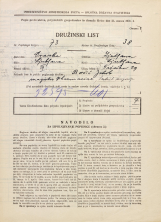 Popis prebivalstva 31. 3. 1931<br />Ljubljana<br />Tržaška cesta 29<br />Population census 31 March 1931