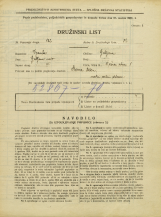 Popis prebivalstva 31. 3. 1931<br />Ljubljana<br />Tržna ulica 1<br />Population census 31 March 1931