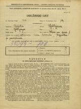 Popis prebivalstva 31. 3. 1931<br />Ljubljana<br />Ulica na grad 1<br />Population census 31 March 1931