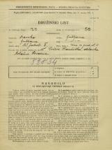 Popis prebivalstva 31. 3. 1931<br />Ljubljana<br />Ulica na grad 11<br />Population census 31 March 1931