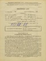 Popis prebivalstva 31. 3. 1931<br />Ljubljana<br />Ulica na grad 3<br />Population census 31 March 1931