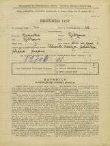 Popis prebivalstva 31. 3. 1931<br />Ljubljana<br />Ulica na grad 4<br />Population census 31 March 1931