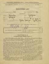 Popis prebivalstva 31. 3. 1931<br />Ljubljana<br />Ulica na grad 5<br />Population census 31 March 1931
