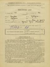 Popis prebivalstva 31. 3. 1931<br />Ljubljana<br />Ulica na grad 7<br />Population census 31 March 1931