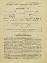 Popis prebivalstva 31. 3. 1931<br />Ljubljana<br />Ulica na grad 8<br />Population census 31 March 1931