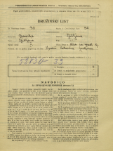 Popis prebivalstva 31. 3. 1931<br />Ljubljana<br />Ulica na grad 9<br />Population census 31 March 1931