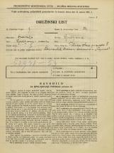 Popis prebivalstva 31. 3. 1931<br />Ljubljana<br />Ulica Stare pravde 5<br />Population census 31 March 1931