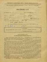 Popis prebivalstva 31. 3. 1931<br />Ljubljana<br />Velika čolnarska ulica 1<br />Population census 31 March 1931