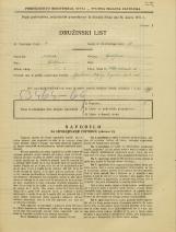 Popis prebivalstva 31. 3. 1931<br />Ljubljana<br />Velika čolnarska ulica 15<br />Population census 31 March 1931