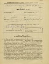 Popis prebivalstva 31. 3. 1931<br />Ljubljana<br />Velika čolnarska ulica 17<br />Population census 31 March 1931