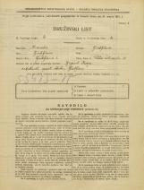 Popis prebivalstva 31. 3. 1931<br />Ljubljana<br />Velika čolnarska ulica 20<br />Population census 31 March 1931