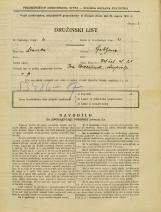 Popis prebivalstva 31. 3. 1931<br />Ljubljana<br />Velika čolnarska ulica 21<br />Population census 31 March 1931
