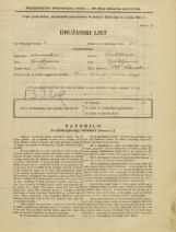 Popis prebivalstva 31. 3. 1931<br />Ljubljana<br />Velika čolnarska ulica 5<br />Population census 31 March 1931