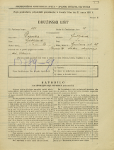 Popis prebivalstva 31. 3. 1931<br />Ljubljana<br />Verovškova ulica 46<br />Population census 31 March 1931