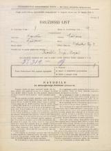 Popis prebivalstva 31. 3. 1931<br />Ljubljana<br />Vodnikov trg 4<br />Population census 31 March 1931