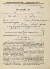 Popis prebivalstva 31. 3. 1931<br />Ljubljana<br />Vodovodna cesta 15<br />Population census 31 March 1931