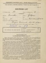 Popis prebivalstva 31. 3. 1931<br />Ljubljana<br />Vodovodna cesta 26<br />Population census 31 March 1931