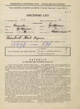Popis prebivalstva 31. 3. 1931<br />Ljubljana<br />Vodovodna cesta 46<br />Population census 31 March 1931