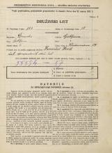 Popis prebivalstva 31. 3. 1931<br />Ljubljana<br />Vodovodna cesta 54<br />Population census 31 March 1931