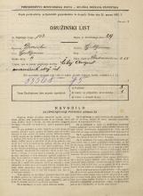 Popis prebivalstva 31. 3. 1931<br />Ljubljana<br />Vodovodna cesta 55<br />Population census 31 March 1931