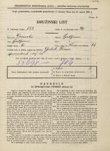 Popis prebivalstva 31. 3. 1931<br />Ljubljana<br />Vodovodna cesta 66<br />Population census 31 March 1931