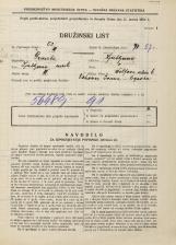 Popis prebivalstva 31. 3. 1931<br />Ljubljana<br />Wolfova ulica 6<br />Population census 31 March 1931