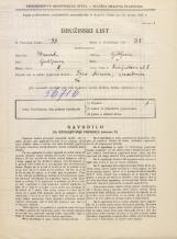 Popis prebivalstva 31. 3. 1931<br />Ljubljana<br />Vošnjakova ulica 8<br />Population census 31 March 1931
