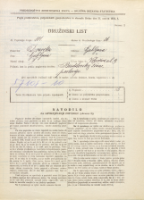 Popis prebivalstva 31. 3. 1931<br />Ljubljana<br />Vrhovčeva ulica 9<br />Population census 31 March 1931