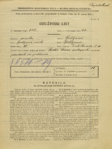 Popis prebivalstva 31. 3. 1931<br />Ljubljana<br />Zaloška cesta 10<br />Population census 31 March 1931