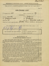 Popis prebivalstva 31. 3. 1931<br />Ljubljana<br />Zaloška cesta 15<br />Population census 31 March 1931