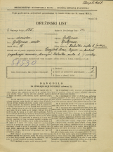 Popis prebivalstva 31. 3. 1931<br />Ljubljana<br />Zaloška cesta 6<br />Population census 31 March 1931