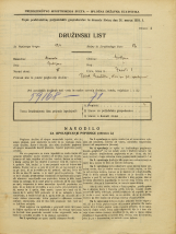 Popis prebivalstva 31. 3. 1931<br />Ljubljana<br />Zavrti 3<br />Population census 31 March 1931